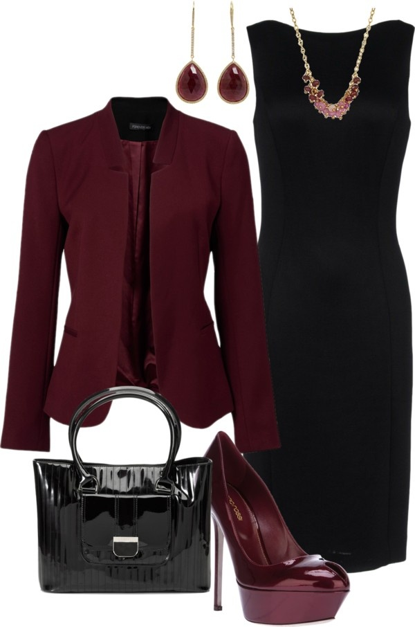 """Perfect warm color for fall & winter - """"Wine and Black"""" by lovelyingreen on…"""