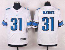 Detroit Lions #31 Rashean Mathis Men Elite Road White Jersey