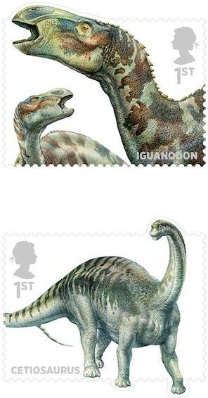 Dinosaurs [and other Mesozoic critters]   John Sibbick   Royal Mail   via @Jane Izard Curtis Dinosaur
