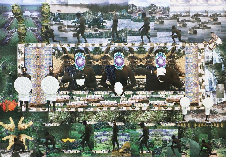 Tunji Adeniyi-Jones - Politics, Synonymous With Evolution ,photo collage on plywood
