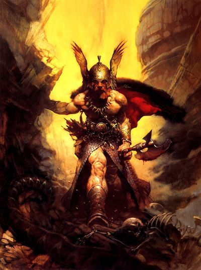 Dark Kingdom by Frank Frazetta, king of fantasy artists. Hail to the King!