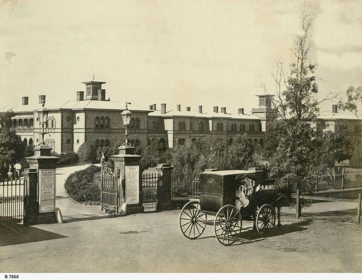 Adelaide Hospital in South Australia in 1872.