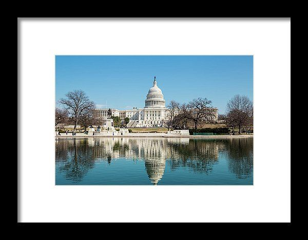 The US Capital. Beautiful reflection photograph of the Capital. Artwork by Fran Smith Photography. Countless frames and mats to choose from to fit your home décor. Also available as a Metal Print, Acrylic Print, Wood Print and on Canvas. Fransmithphotography.com