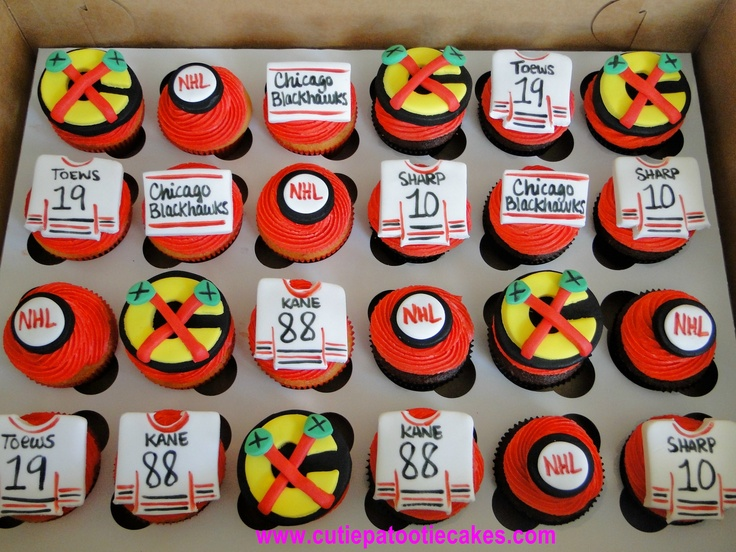 Blackhawks Cupcakes