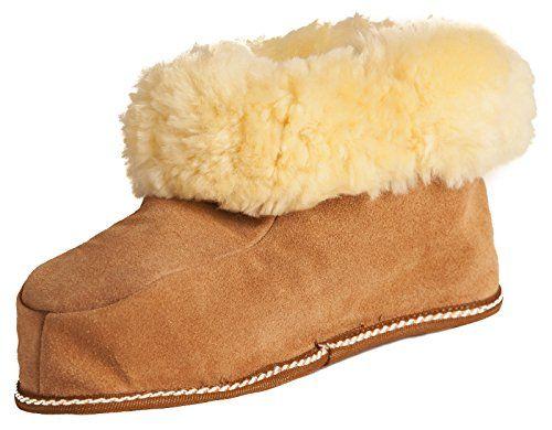 Warme Damen oder Herren aus echtem Lammfell Hausschuhe Braun Gr. 40 - http://on-line-kaufen.de/brubaker/40-eu-brubaker-damen-oder-herren-hausschuhe-aus-gr-2