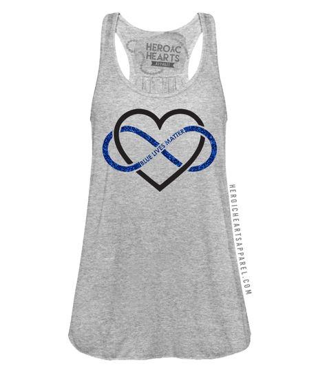 Heart Infinity Blue Lives Matter Top $29.99