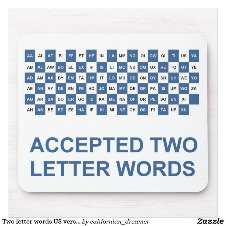 Two letter words US version Mouse Pad Two