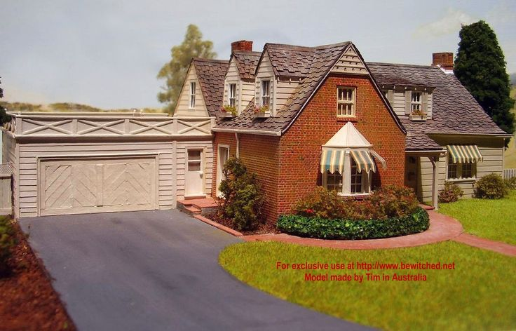 handmade model of bewitched house | House plans ...
