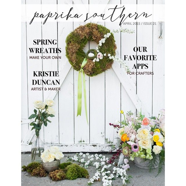The April edition of Paprika Southern is out! Our #DIY issue features a moss-covered #wreath tutorial w/ @colonialhouseofflowers, spring trends w/ @shopredclover & @harperboutique, #artist Kristie Duncan, and more! Link in profile to read the full issue #spring #southern #magazine #art #style #fashion #savannahga #georgia #madeingeorgia