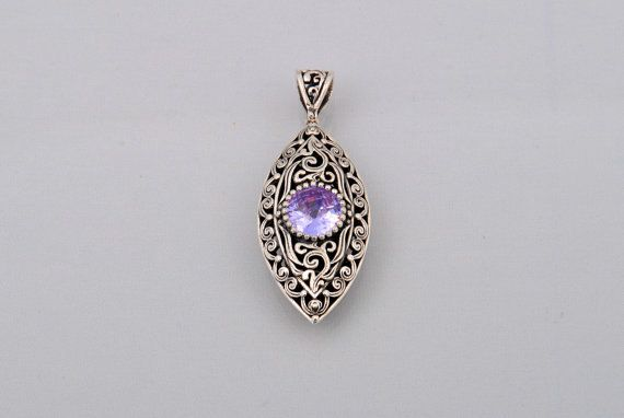Handmade Sterling Silver 925 Byzantine Style pedant with