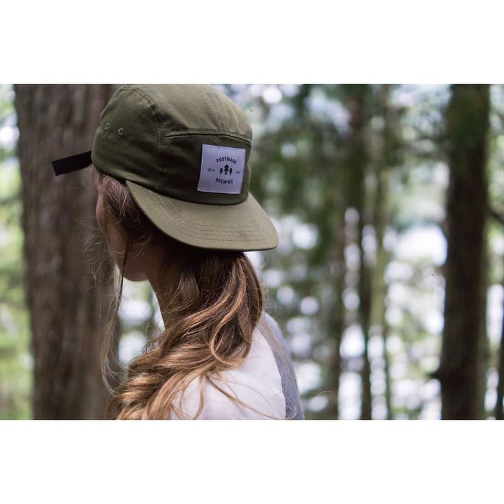 Trail Cap w/ Trees Crest | Available in olive, plum and watermelon. Made In #Vancouver BC. #postmarkbrewing #postmarkapparel #fallcollection