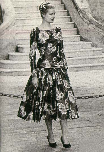 Grace Kelly.  First time at the Palace in Monaco, 1955.  Less than a year later,  she would be the Princess of Monaco.
