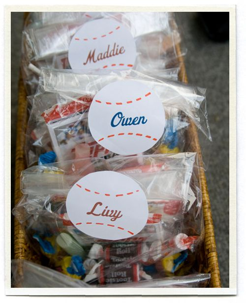 Baseball Party Favors - for end of fall season party