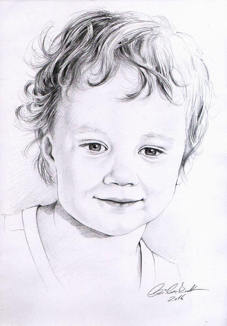 little boy - pencil drawing