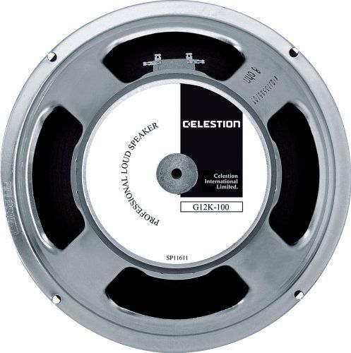 Celestion G12K-100 Guitar Speaker, 8 Ohm by CELESTION. $105.00. A monster of rock, the G12K-100 makes full use of its heavy magnet to combine huge power handling with superb clarity across a wide frquency response.