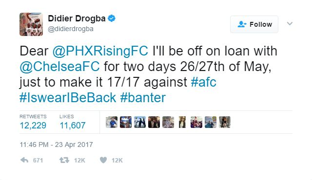 Didier Drogba is a Chelsea legend and only enhanced that reputation among Blues fans with his latest dig at London rivals Arsenal