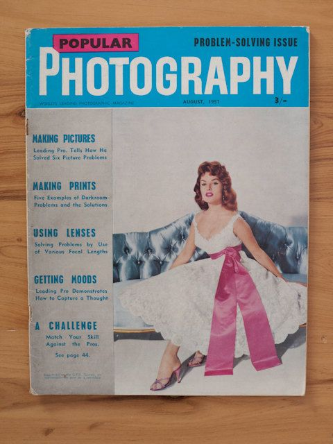 Popular Photography magazine August 1957 by freshdarling on Etsy