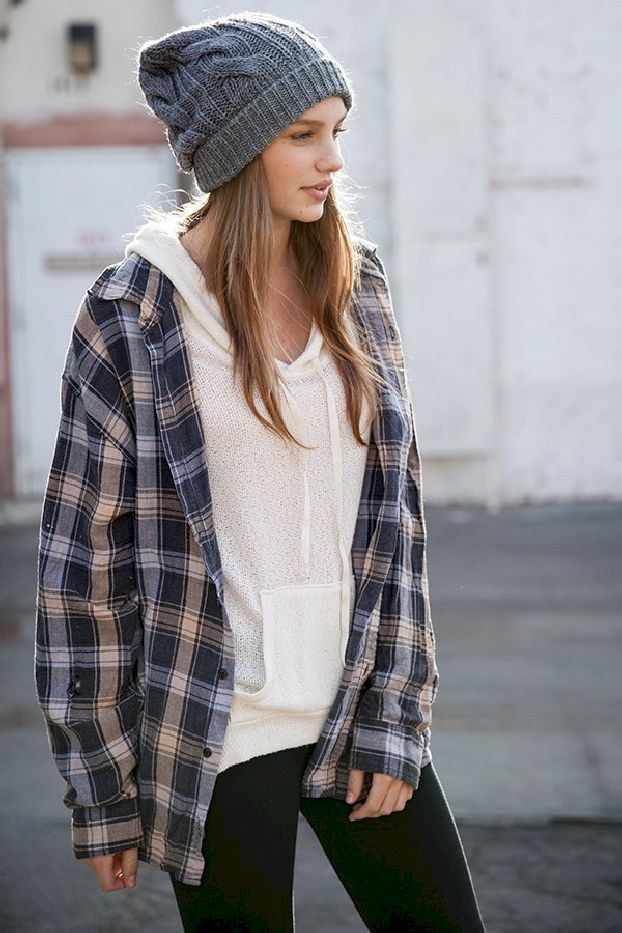 Casual Flannel Shirt Outfits for This Summer 29
