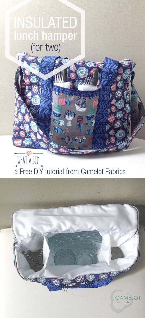 Free Projects | Insulated Lunch Hamper | What a Gem by Allison Cole for Camelot Fabrics