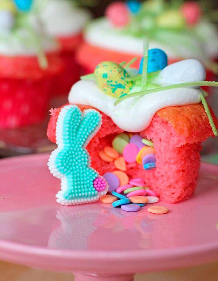 Cupcakes piñata de Pâques