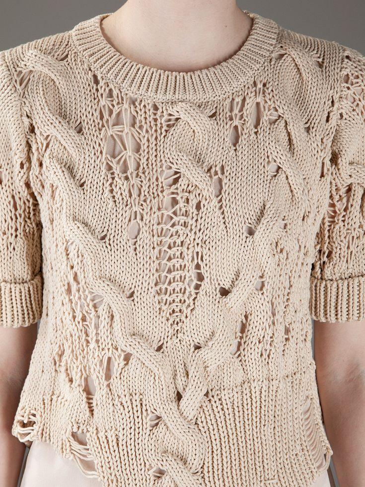 Knitting inspiration -- interesting, free form pattern.