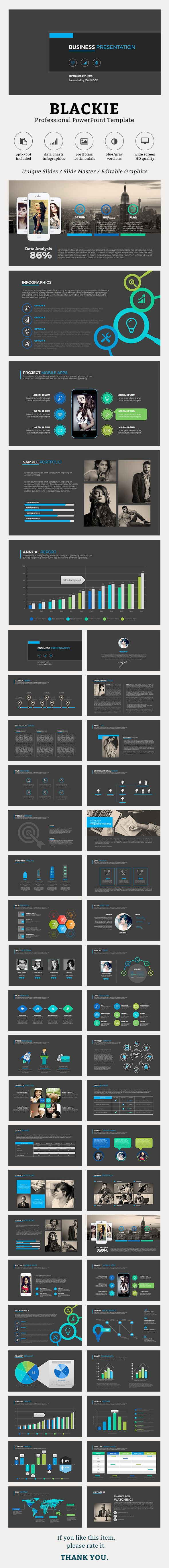 Blackie PowerPoint Template - Business PowerPoint Templates