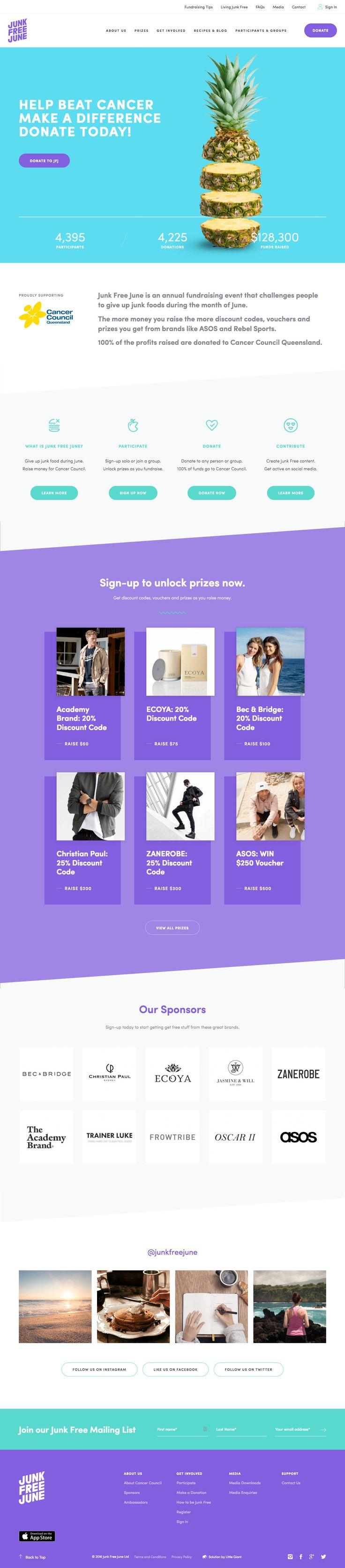 Junk Free June (More web design inspiration at topdesigninspiration.com) #design…