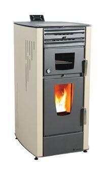 Estufa de pellet Masina de 12 kw con HORNO, ideal para segundas viviendas en el campo. Sácale el máximo partido a la calefacción