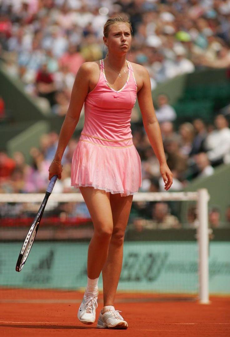 Maria sharapova wears pink dress in French Open | Match ...