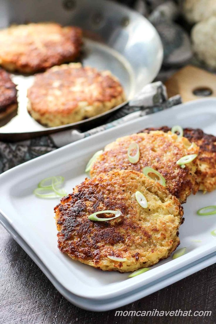 Basic Cauliflower Fritters are super easy and so versatile - the perfect base, snack or side   low carb, gluten-free, THM   lowcarbmaven.com