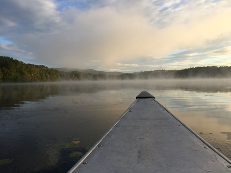 Canoe ride in Island Pond Vermont