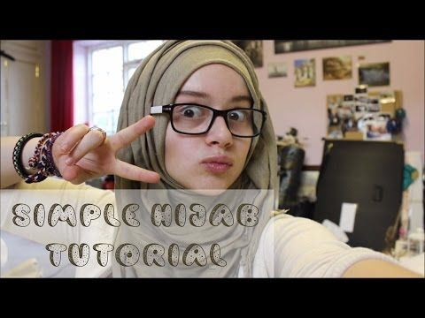 Simple Hijab tutorial - great for glasses :) ll Hijabonita - YouTube