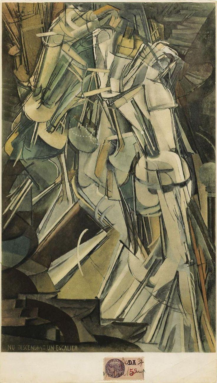 Marcel Duchamp - nu descendant l'escalier n 2