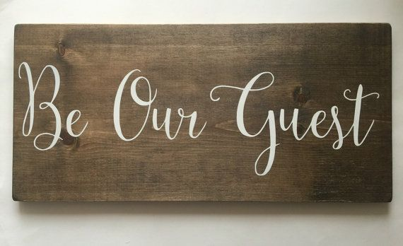 Be Our Guest  Guest Room  Welcome  Wedding  Rustic by HouseOfJason #guestroom #beourguest #woodsigns #houseofjason