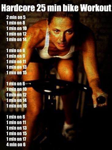 stationary bike workout. since apparently i'm not running for a while. :(