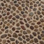 MSI Red River Rock 12 in. x 12 in. x 10 mm Marble Mesh-Mounted Mosaic Floor and Wall Tile-LPEBQRED1212POL - The Home Depot
