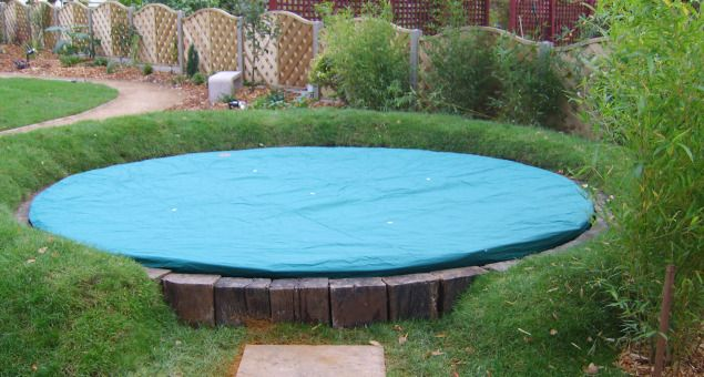 Whilst fun, large trampolines can be a bit of an eyesore, so we decided to sink it down into the ground and also to terraform the earth into a mound all around it. This not only helped to conceal it, but also made it safer to use and provided a place for the children to sit whilst watching others doing the bouncing.