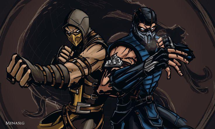 Mortal Kombat X: Scorpion and Sub-Zero by MenasLG.deviantart.com on @DeviantArt