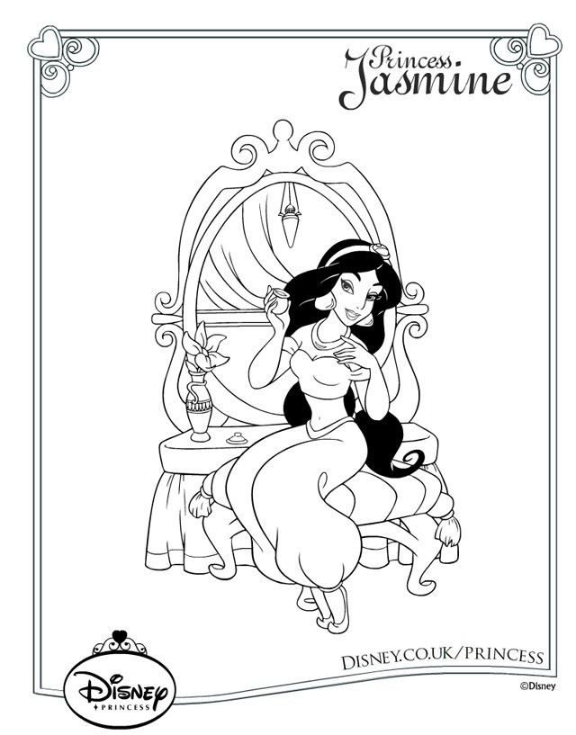Disney Princess Colouring Pages 30