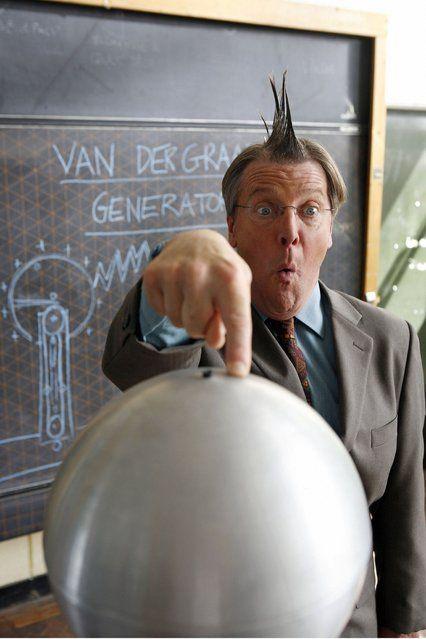 Mr Flatley and the Van de Graaff generator
