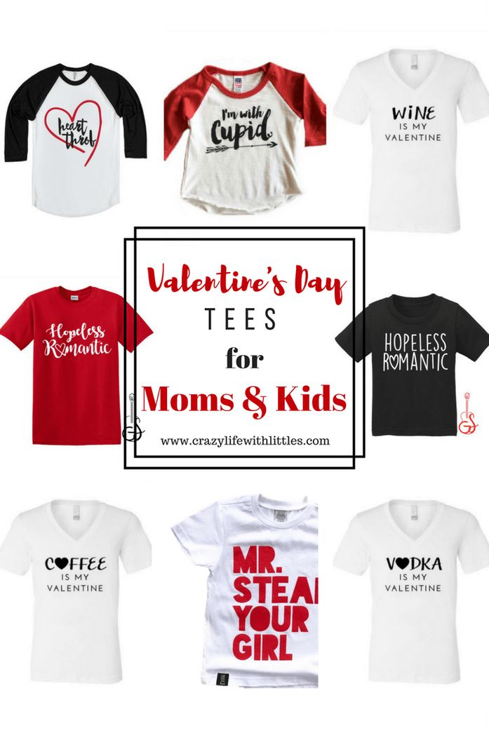 Valentine's Day Tees for Moms & Kids | Valentines Day Raglans | Crazylifewithlittles.com