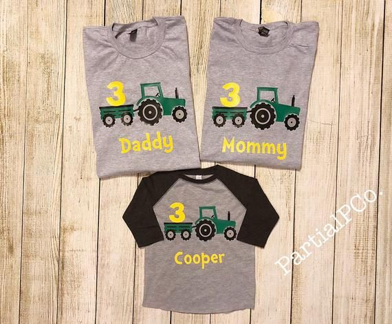98872339 Tractor Birthday Raglan OR T-Shirt | Choose number|Red or Green Tractor |  boy | 1 | 2 | 3 | 4 | 5 | Personalized, John Deere | International