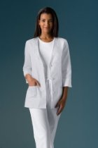 Cherokee Medical Uniforms Light and Lovely Collection 28 1/4 Inch Length 3/4 Sleeve Embroidered Lab Jacket Labcoat