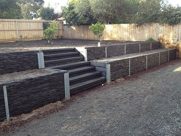 Cement Retaining Walls Landscaping In 2020 Landscaping Retaining Walls Backyard Retaining Walls Sloped Backyard