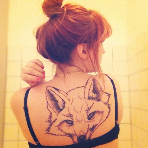 #tattoo #red #fox #head #renard