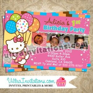 18 best hello kitty birthday invitations images on pinterest hello do you want a unique and custom design we make corrections and touch ups free of charge on all your photos stopboris Image collections