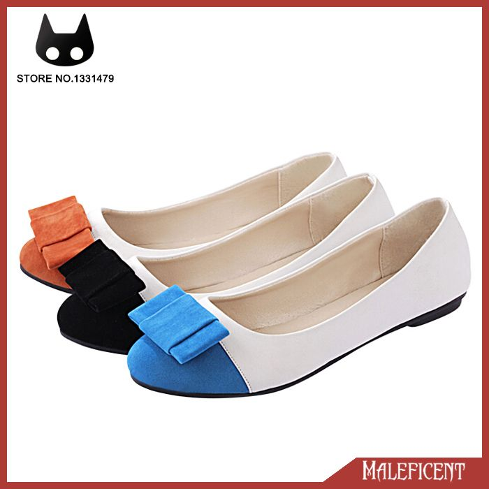 Find More Information about Women's Moccasins 2014 Work Shoes Flat Heel  Round Toe Flat Shoes Bowtie