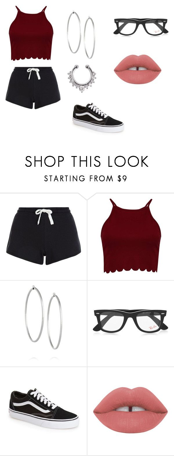 """""""Having a sleepover with blake gray, madison beer, andrea russett, matt espinosa, and loren gray."""" by queentiamarie ❤ liked on Polyvore featuring New Look, Jennifer Fisher, Ray-Ban and Vans"""