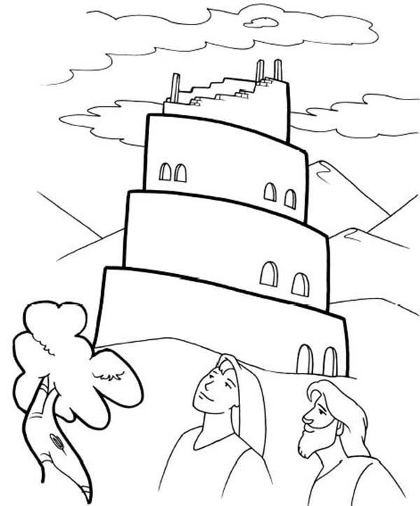 Tower Of Babel Coloring Page Tower Of Babel Bible Coloring Page Clip Art Library In 2020 Bible Coloring Pages Bunny Coloring Pages Dinosaur Coloring Pages