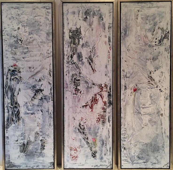 """""""Tulips""""  3 paintings. Copyright by  www.anne-mette.com  #copyrights #copenhagenartist #danishartist #white #tulips #artist #kunstner  #kunst #modernpainting #modernekunst #kunstudstilling #painting #pinterest #pin #paintingforsale #decorationart #decor #indoordecor #indretningsarkitekt #bobedre #husoghjem #tilsalg #tilsalgkbh #email #udstiller #kunst@anne-mette.com #www.anne-mette.com"""